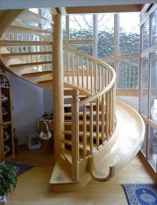 maison escalier toboggan