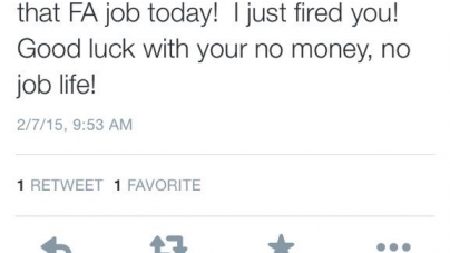 Renvoyée avant son premier jour à cause d'un tweet